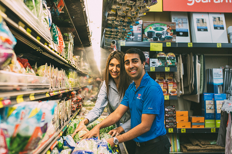 Avez and Alia Bashadi Grocery Outlet Owners