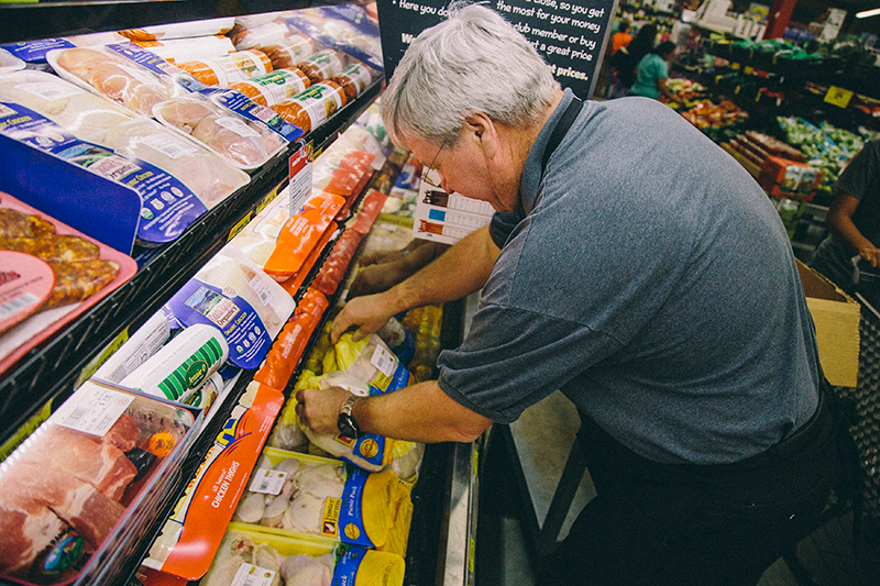 Dave Radcliffe Stocking Shelves