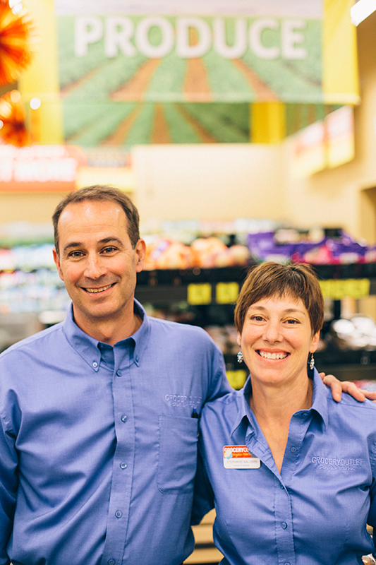 Mark and Stephanie Baldwin, Point Loma Grocery Outlet Operators