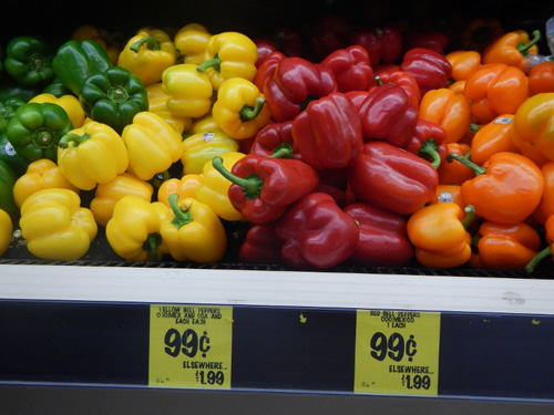 Peppers at Grocery Outlet