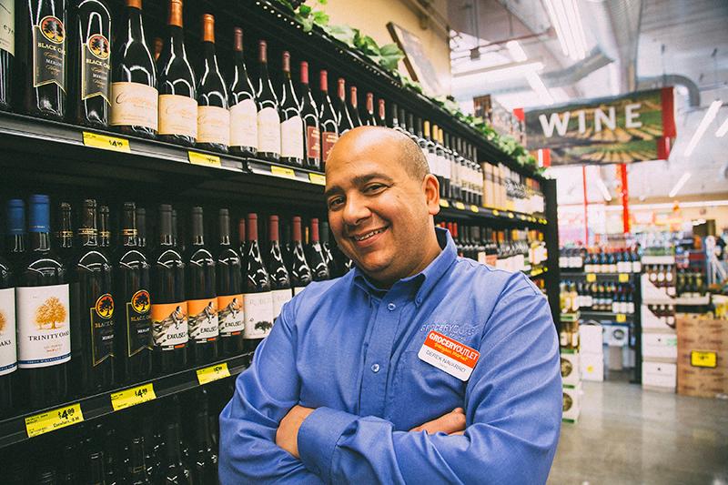 Derek with Wine