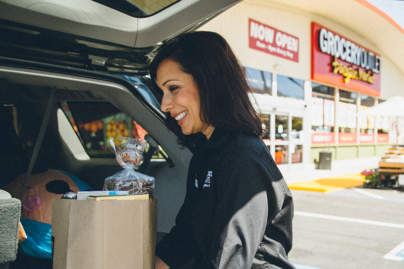 Gina Loading Groceries