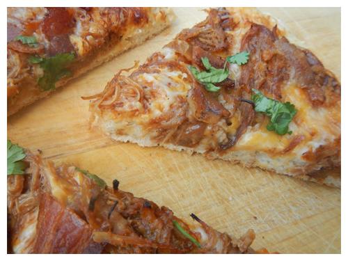 pulled pork pizza slices