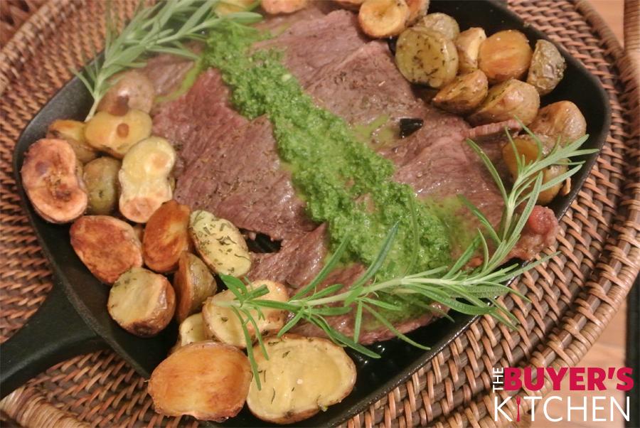 Steak with Potatoes & Chimichurri