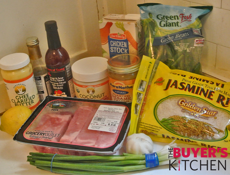 Tahini Asian Pork Ribs Ingredients