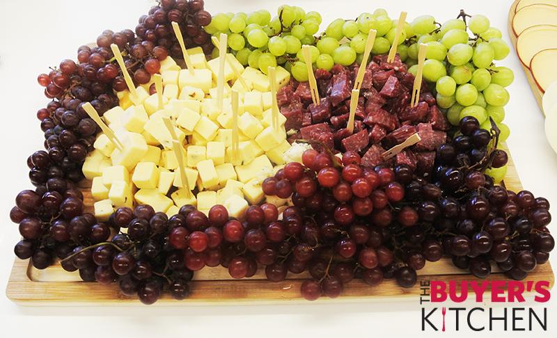 Cheese Plate Grape Breadsticks