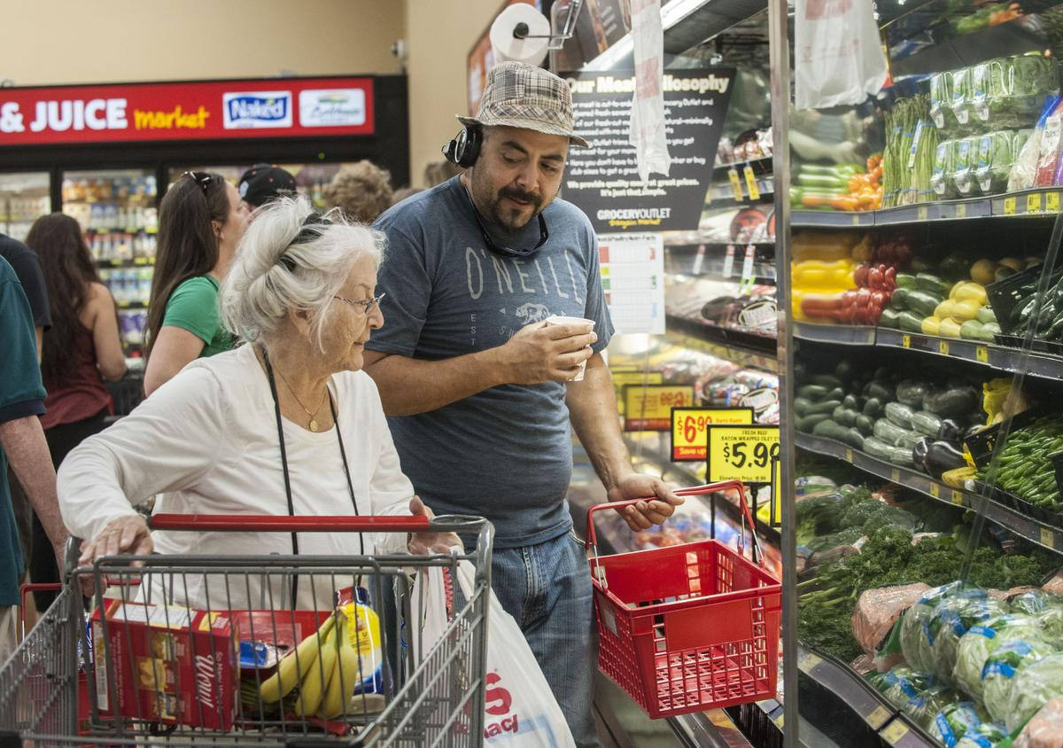 Customers at Grocery Outlet
