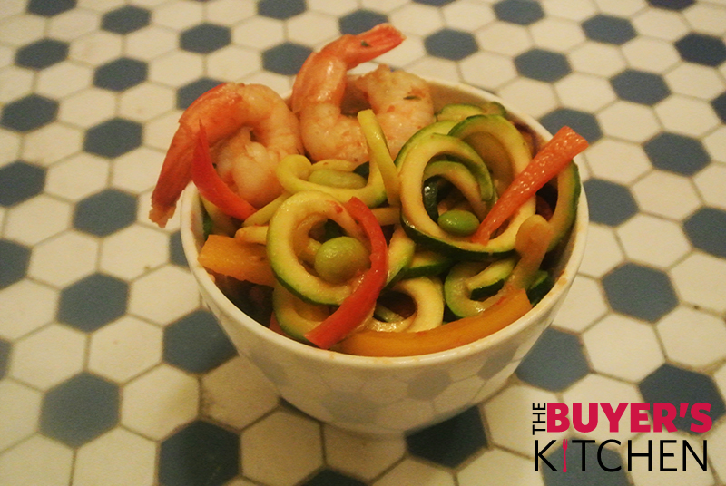 Spicy shrimp zoodles grocery outlet for Zoodles kitchen set