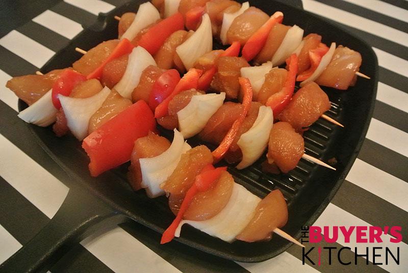 Teriyaki Chicken Skewers with Sriracha Aioli
