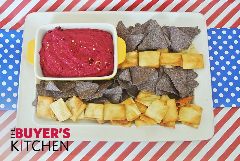 Beet Hummus and Chips