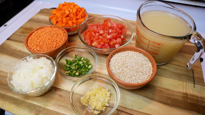 Mi Cocina Rapida Red Lentil & Quinoa Soup