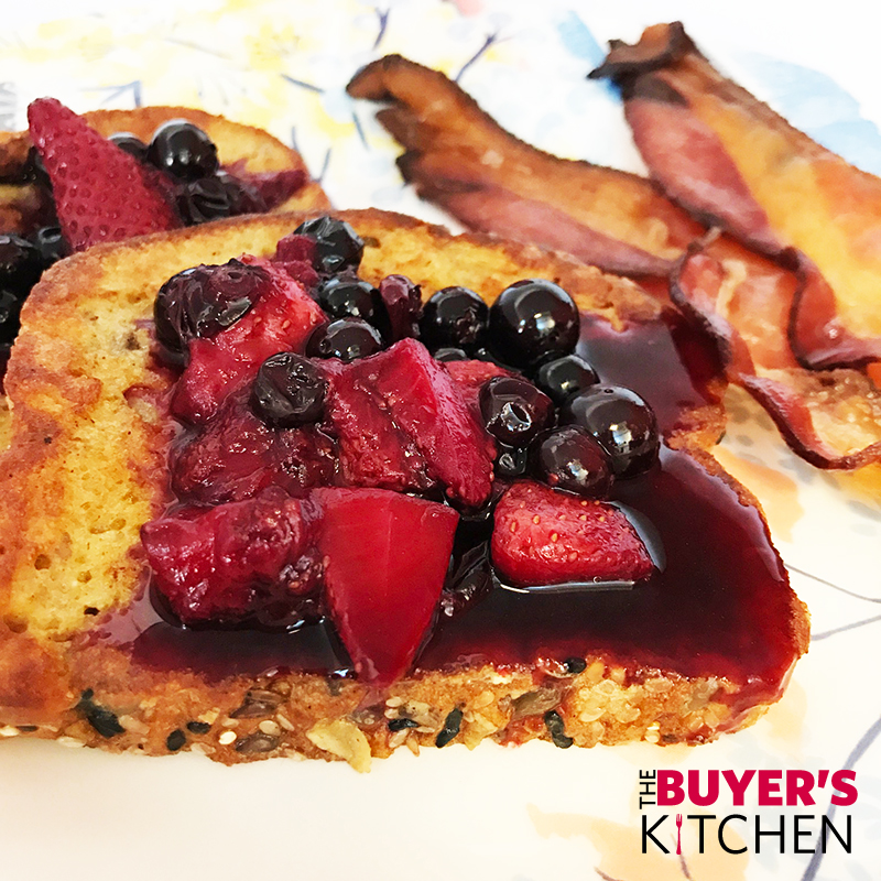 French Toast Berry Compote