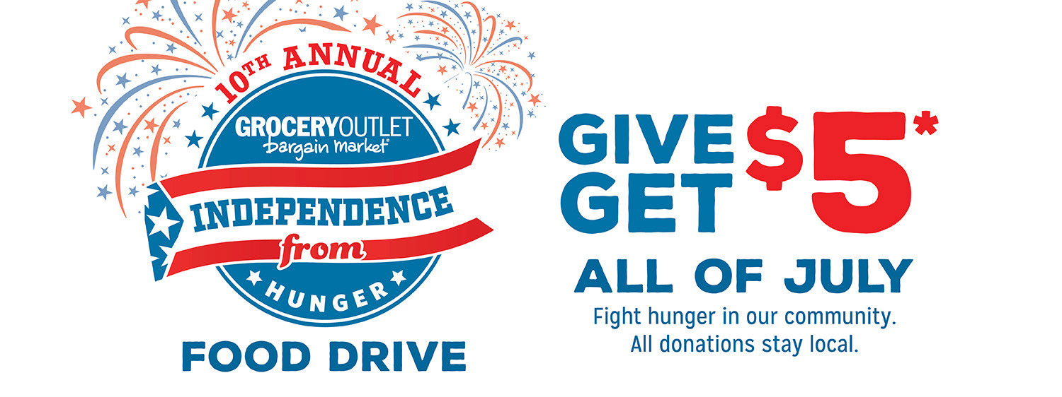 10th Annual Grocery Outlet Independence from Hunger Food Drive