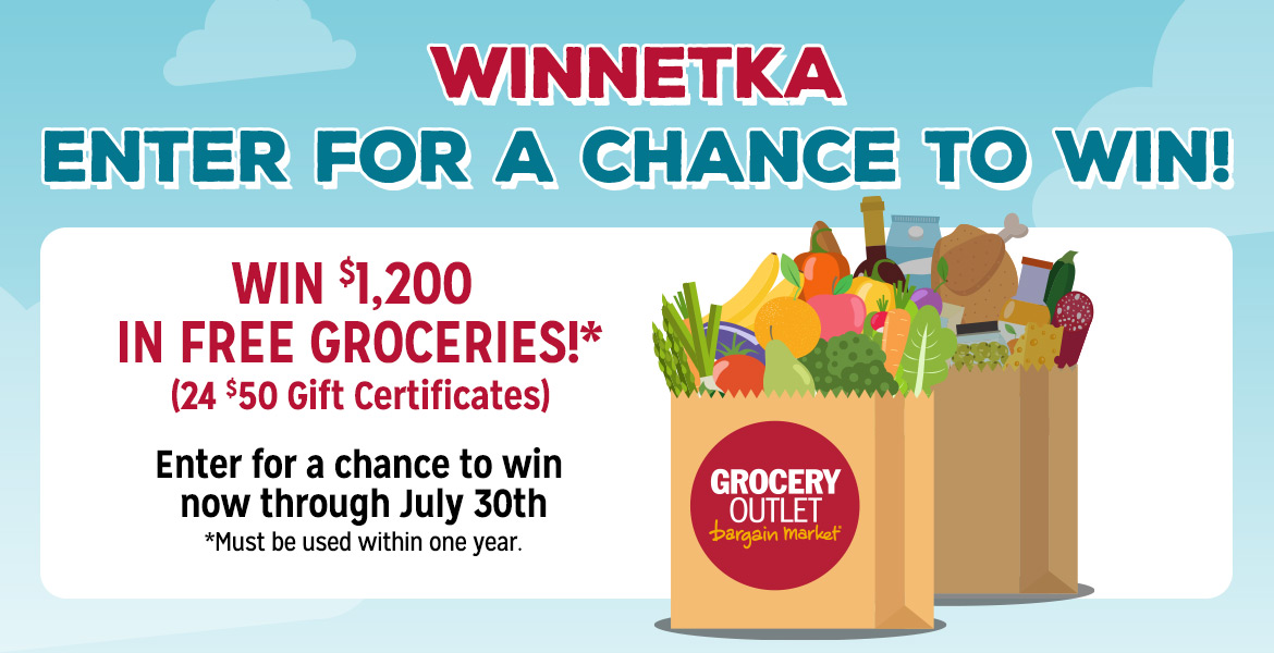 Enter for a chance to win $1,200 in free groceries. See details below.