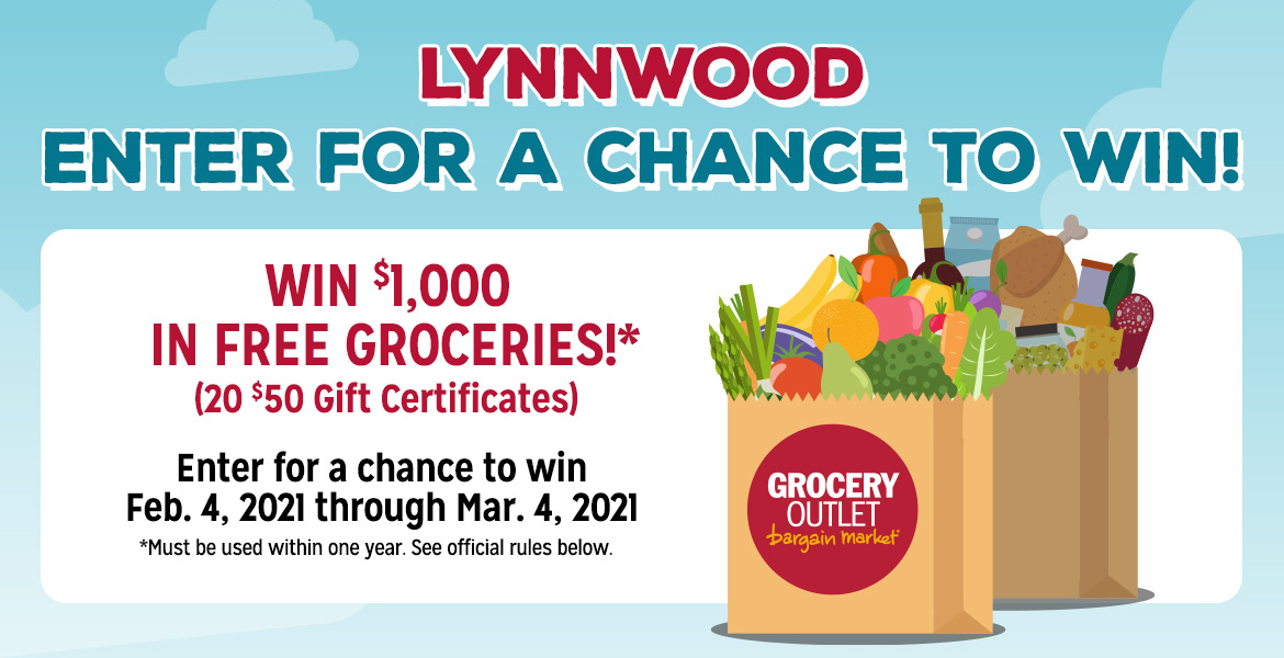 Enter for a chance to win $1,000 in free groceries